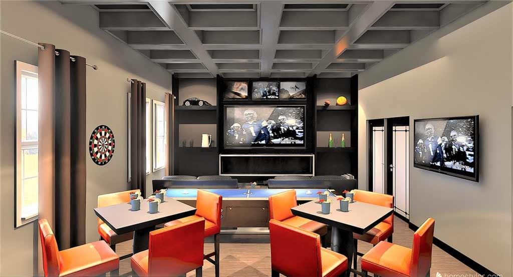 Game Room Bar Design