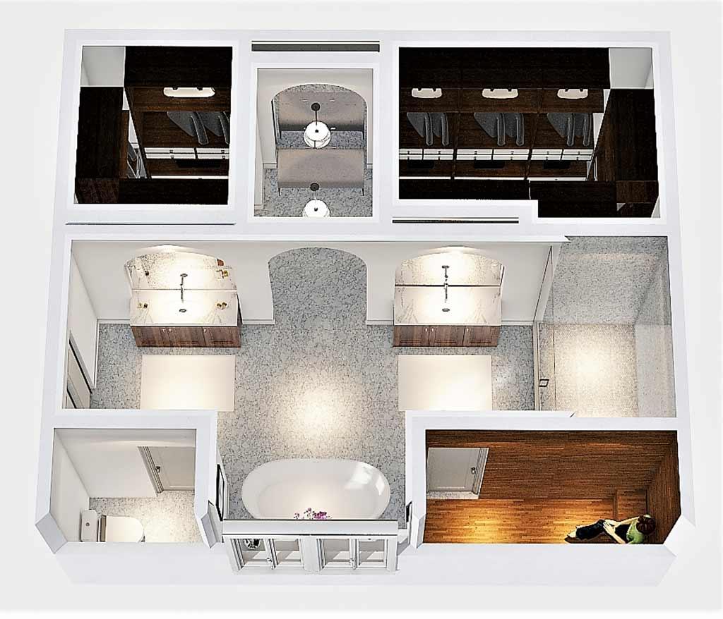 Master Bath Floorplan Design