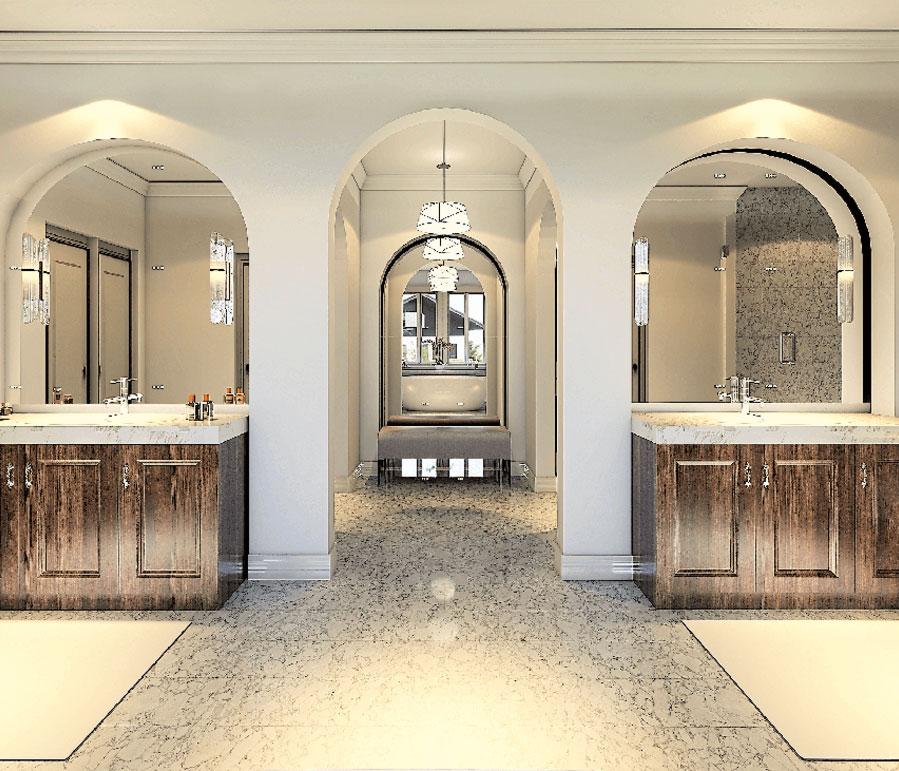 Master Bathroom CAD drawing